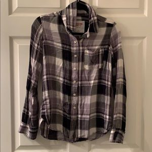 Mossimo Supply Co Black & white plaid button up XS
